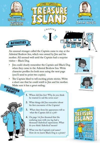 Comic Classics Treasure Island Activity Pack Image