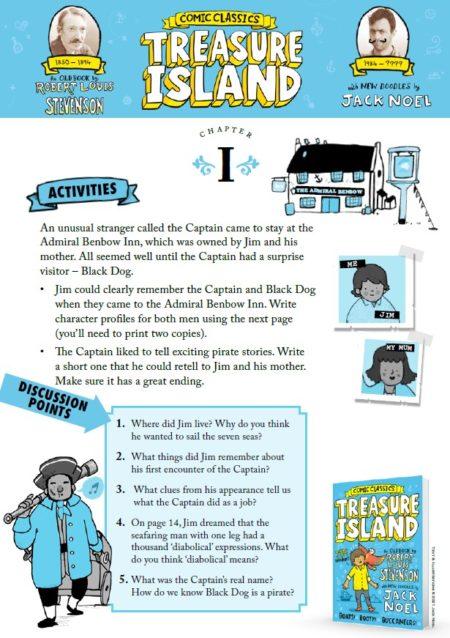 Comic Classics: Treasure Island Activity Pack -